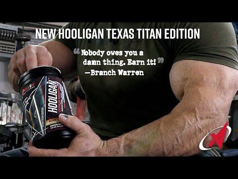 Apollon Nutrition Collaboration with IFBB Pro Branch Warren on Hooligan Texas Titan Edition