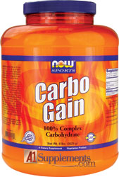 Now Carbo Gain, 8 Lbs for only $17.95