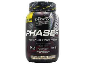 MuscleTech PHASE8 'Sustained Release' Protein $15.99!