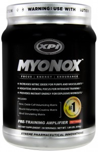 Myonox, By XPI Pre-Workout For $54.95 Shipped