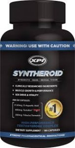 SYNTHEROID - Testosterone Booster - Build Muscle - Fat Burner, 180 Caps For $44.95