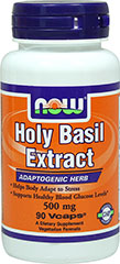NOW Holy Basil Extract 500 mg / 90 Vegi Caps For $10.99