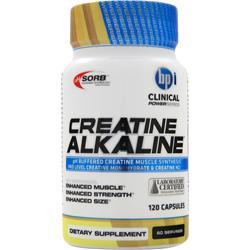 BPI Creatine Alkaline 120 Caps For $21.99