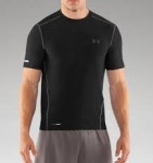 UA HeatGear Fitted Short Sleeve Crew $18