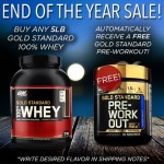 5LB Whey Gold Standard + NEW Gold Standard Pre Workout For $59