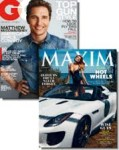 GQ & Maxim Magazines - 1 Year Subscription – $8.99 w/Exclusive Coupon