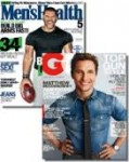 Men's Health & GQ Magazines - 1 Year Subscription – $12.99 w/Exclusive Coupon