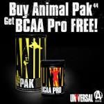 Universal Animal Pak + BCAA Pro - $28 w/Coupon
