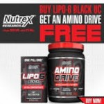 Nutrex Lipo-6 Black UC Fat Burner + FREE Amino Drive - $23 w/Exclusive Coupon