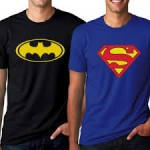 Men's Superman and Batman T-Shirts $13