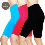 4 Pairs: Bermuda-Cut Short Workout Leggings $19 Shipped