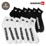 6 Pairs: QuikSilver Moisture Wicking Quarter Socks $8 Shipped