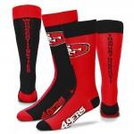NFL Unisex Team Logo Crew Socks $13 Shipped