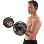 2 X 25LB Gold's Gym Olympic Plate Set $31