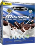 12/pk Mission1 Clean Protein Bars - <span> $18.74 Shipped</span>