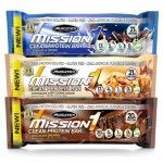 12/pk Mission1 Clean Protein Bars - $18