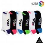 12 Pairs: Fila Shock Dry No-Show Athletic Socks - $12.99