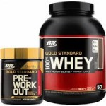 5LB - Optimum Nutrition Gold Standard 100% Whey + ON Gold Pre - $52! w/Bodybuilding coupon