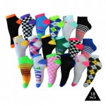 18 Pairs: Frenchic Vibrant Ankle Socks - $11.99 Shipped