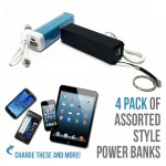 4 Pack of Assorted Style Power Banks - $9.99 Shipped