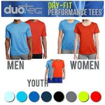 Men & Women Duo Tec Dry-Fit Performance Tees - $6 Shippped
