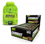 MP Combat Crunch Bars + Iron Whey 1.5LB - $24.99
