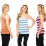 8 Pack: Ladies Stylish Striped Cami Tank - $18.99 Shipped w/ Gear XS Coupon