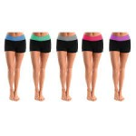 5/pk ' Tummy Control Fold-over Space Dye Hot Shorts - $16.99 Shipped