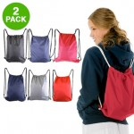 2 Pack: Drawstring Backpacks - $6 Shipped
