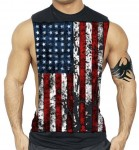 Patriotic US Flag Workout Stringers & Tanks - $11
