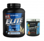 Dymatize: Elite Whey Protein 5LB + AMINO PRO 30s - $44.95  + Free Shipping w/ FitRx Coupon