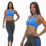 2/pk: Two-Tone Space Dye Capri Leggings and Sport Bra - $13.99 Shipped