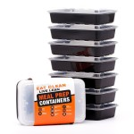 7/pk LIFT Certified BPA-Free Reusable Microwavable Meal  Containers -  <span> $10 Shipped</span>