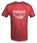 Arnold Quote Conquer Pose Gym T Shirt - <span> $14.99 Shipped</span>