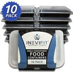 10/pk INEVIFIT Single Compartment Premium Food Containers -  <span> $16.99 </span> Shipped