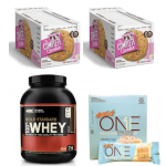 5LB 100% Gold Standard Whey + ONE Bars Box + 2 x Complete Cookie Boxes - <span> $83 Shipped </span> w/ Vitamin Shoppe Coupon