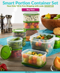 18pk Smart Portion Food Storage Container Set  - <span> $19.99 Shipped</span>