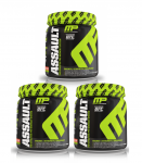 3 x 30s Muscle Pharm ASSAULT Pre Workout <span> $27.99 ($9ea)</span>