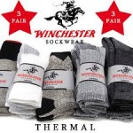 3 Pairs - Winchester Thermal Socks - <span> $6.99 Shipped </span>