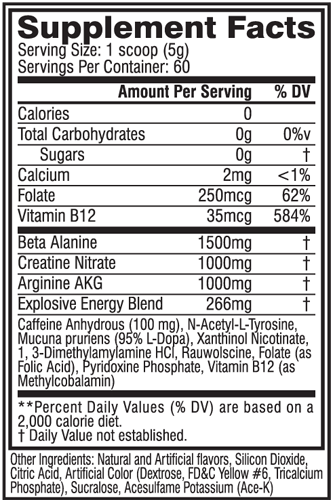 Cellucor C4 Pre Workout label