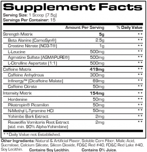 Mr. Hyde Pre Workout facts
