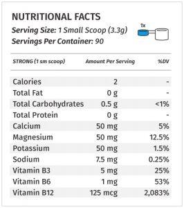 Metabolic Nutrition ESP label