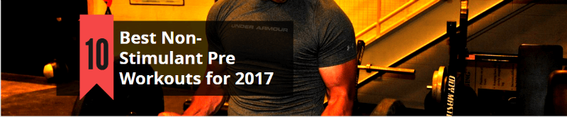 best 10 non stimulant pre workouts