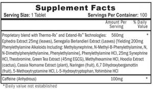 Hi-Tech Pharmaceuticals Lipodrene Label