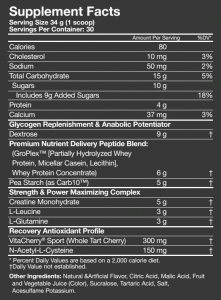 Muscle Pharm Recon Supplement Facts