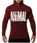 Animal Letter Print Hoodie -<span> $9.99</span>
